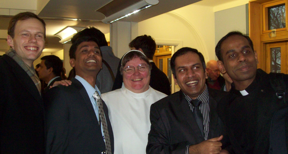 Sr Tamsin with some Jesuit seminarians from Heythrop College